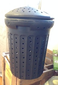 Convert a garbage can into a compost barrel!
